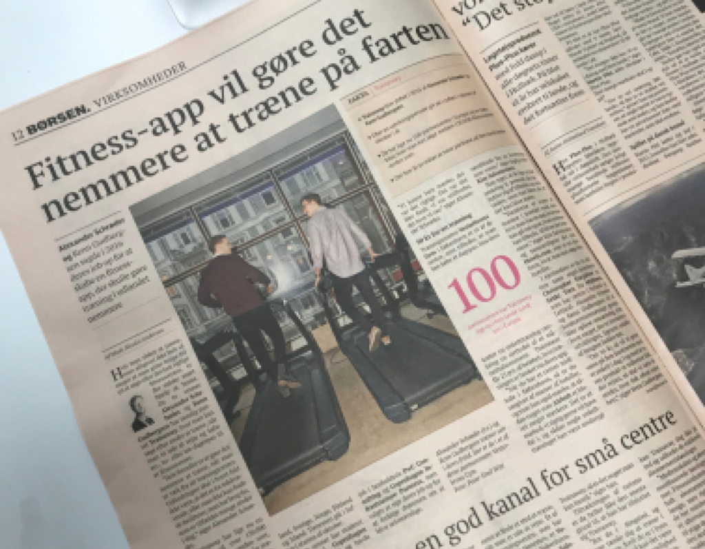 A newspaper about fitness app