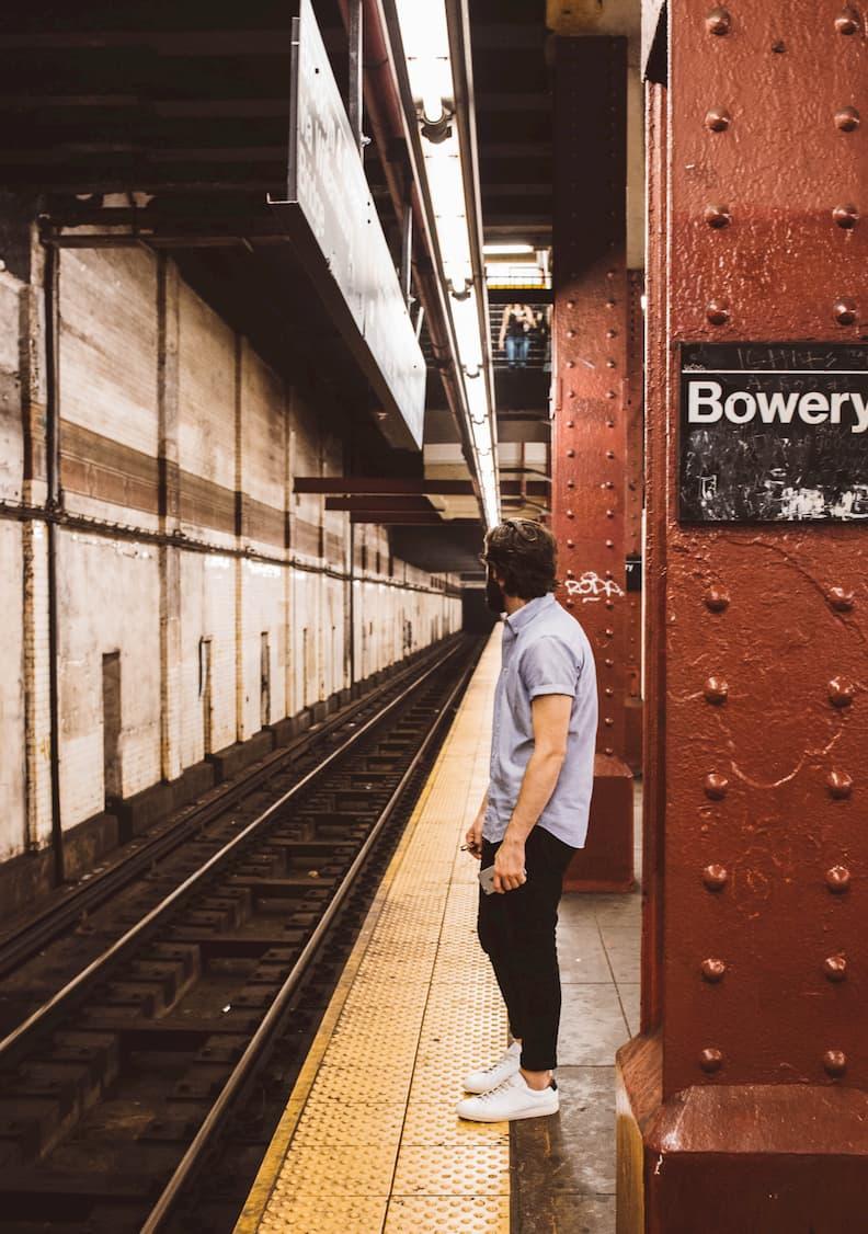 Snapshot of Bowery New York City