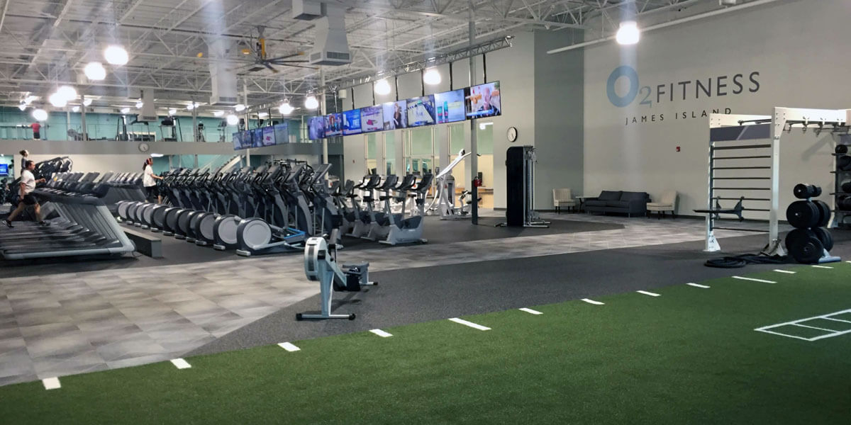O2 Fitness - james island interior
