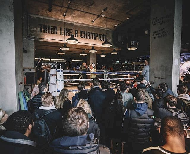 Boxing match with an audience