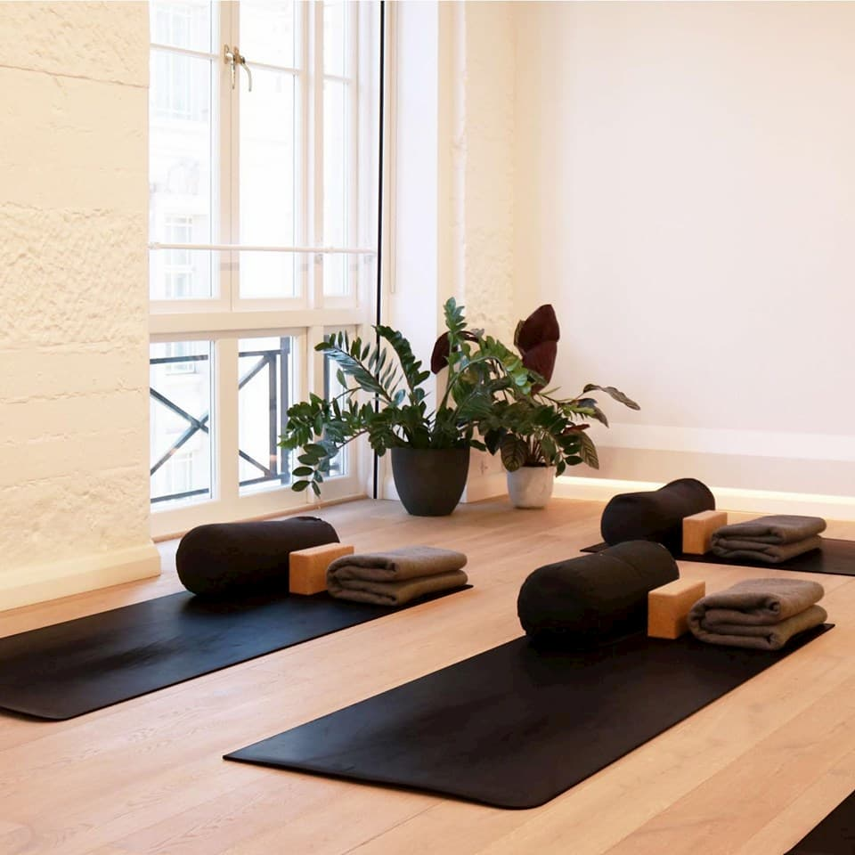 Yoga mats in a stylish room