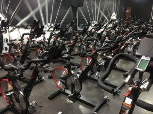 Futuristic fitness room