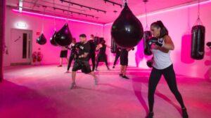 Boxing girl fitness