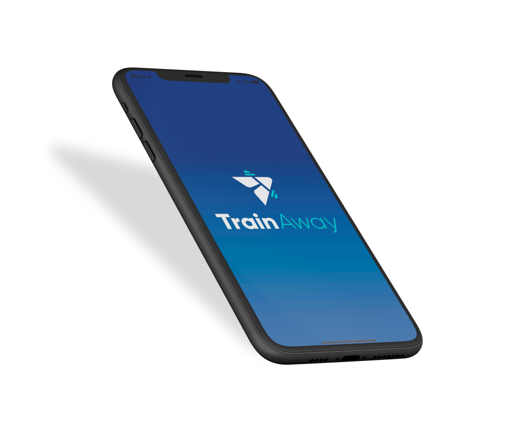 iphone mockup trainaway front screen