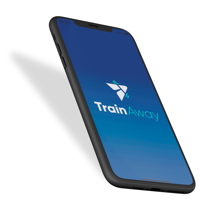 iphone mockup trainaway